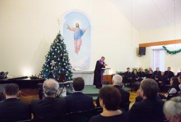 Архиепископ Й.Барон и мужской хор В.Дудкина